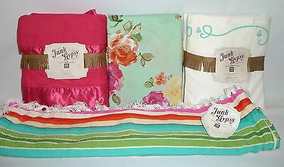 PB TEEN Junk Gypsy FULL Bedding Set-Country Blooms+Dream Chaser+Wild Ruffle, NEW