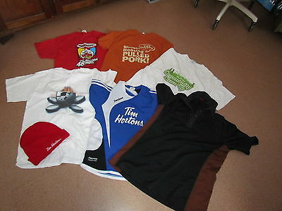 Various Tim Horton's T Shirts and One Toque, Curling Brier Hat Ottawa 2016