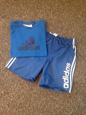 Adidas Boys Shorts And T-shirt Suit Set Age 13-14 Years