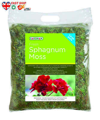Gardman Fresh Sphagnum Moss in Large Pack FAST Ship UK BUY NOW Top Quality BEST