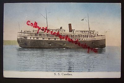 S. S. CAROLINA Steamer vintage postcard, steam ship