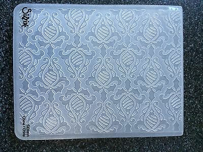 Sizzix Large A2 Embossing Folder Holiday Damask Holly Baubles Christmas New