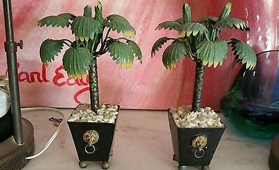 Palm Tree Vintage Tole Topiary Hollywood Regency Palm Beach Style