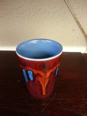 poole pottery vase SMALL RED excellent condition FREE P&P