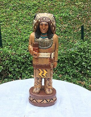 John Gallagher Carved Wooden Cigar Store Indian 2 ft. Buffalo