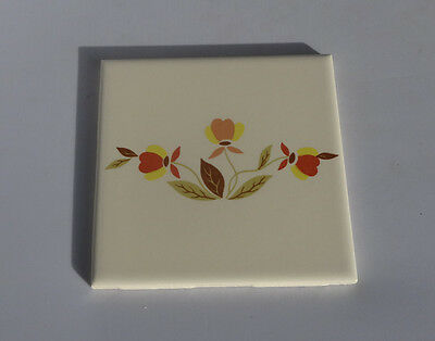 "Hall China Autumn Leaf 1 Tile 4 1/4"" by 4 1/4"""