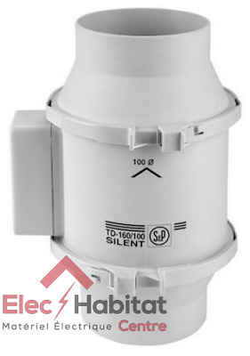 Extracteur d'air de conduit MIXVENT TD160 Unelvent 250454