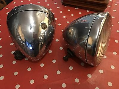 Vintage Car Lamps NOT Replica's The Real Thing. unsure what car they are off