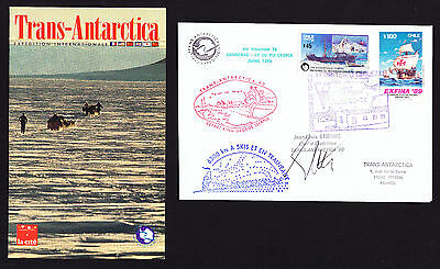 Chile Boating Shipping stamps on 1989 / 1990 Signed Antarctic Expedition cover