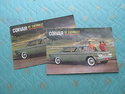 1010x  Lot of two different 1960 Chevrolet Corvair sales brochures