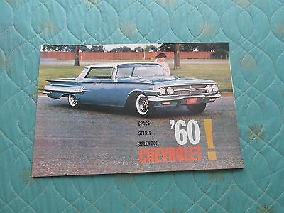 1010x  1960 Chevrolet full line sales brochure revised version with Corvair Cpe