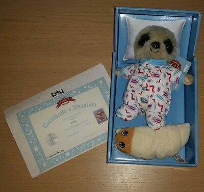 Special Edition Baby Oleg Meerkat Toy in Box with Certificates