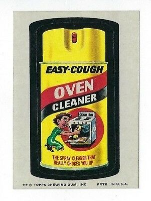 1974 Topps Wacky Packages 9th Series 9 EASY-COUGH OVEN CLEANER nm-