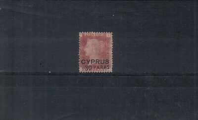 Cyprus Q Victoria 1881 30pa on 1d pl216 unused