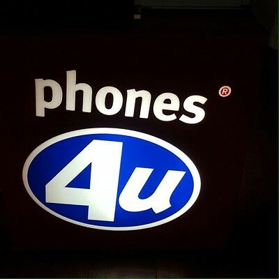 Phones 4u Shop Sign, Discontinued Store