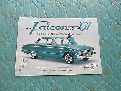 1010x  1961 Ford Falcon deluxe sales catalog brochure (best version)