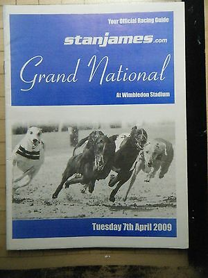 2009 Greyhound Grand National Final Racecard - Wimbledon