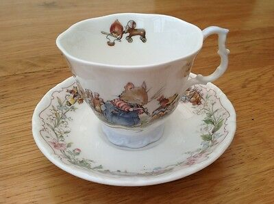 "Royal Doulton Brambly Hedge ""The Birthday"" cup and saucer 1987"