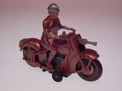 "GSMOTO "" MILITARY MOTO"" GB ! 14cm, PLASTIK, WHEELS TIN, FAST NEU/NEARLY NEW !"