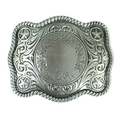 Rodeo Handmade DIY Blank Belt Buckle Filigree Western Cowboy Custom Made Initial