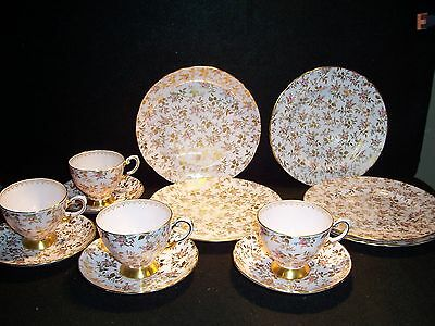 Tuscan Teacup & Saucers Plates Du Barry Rose Sunshine Bone China England