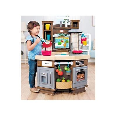 Childrens Play Kitchen Little Tikes Pretend Interactive w/ Bluetooth & Sounds