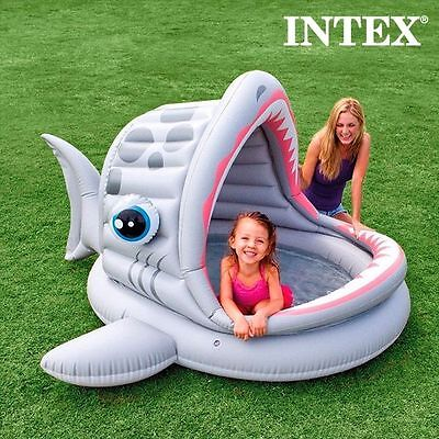 Piscine Gonflable Grand Requin Intex