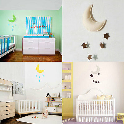 Decoration Props Moon&Star Baby Bed Hanging Decor Boy Girl Baby's Room