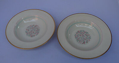 "Franciscan China Rossmore 2 Bowls 6 1/8""  Mission Mark"