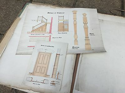 Portfolio of Victorian / Edwardian architects drawings, plan and blueprints