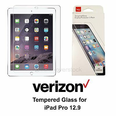 Verizon OEM Tempered Glass Screen Protector Thin for Apple iPad Pro 12.9 - Clear