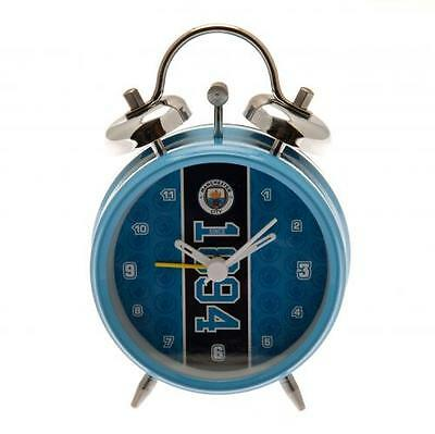 Manchester City F.C.  / Man City Official Crested Bell Alarm Clock (Since 1894)