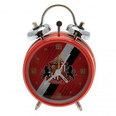 Sunderland A.F.C. Official Crested Bell Alarm Clock (The Black Cats)