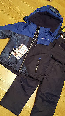 Brand New Navy and Blue Weatherproof Boys Jacket & bib pants Age 5 years