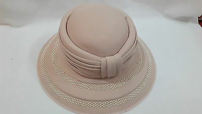 Ladies formal pink cappell condici hat wedding races ascot, 21 inches round head