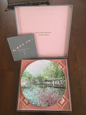 """Rare ROYAL DOULTON CHEN CHI 1976 """"GARDEN OF TRANQUILITY"""" FLORAL PLATE Boxed"""