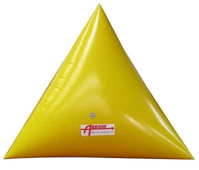 Triangle Tetrahedron Swim Marker Inflatable Buoys - various colors, sizes