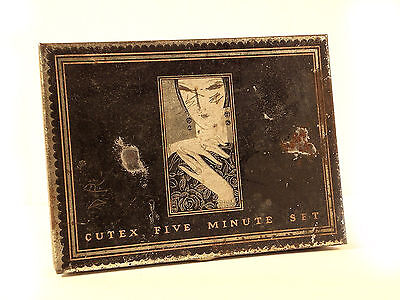 Vintage Cutex Five Minute Set 1920s  1930s Nail Polish Tin