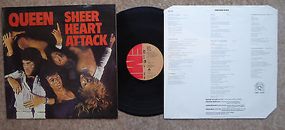Queen Sheer Heart Attack  Emc3061 1974 Lyric Inner Vg ++ Condition Killer Queen