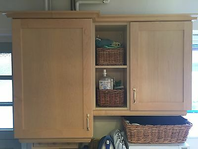 Complete large Shaker Style Maple kitchen units
