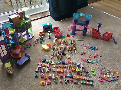 Huge Bundle Of Polly Pocket Dolls With Outfits Shoes Accessories Car