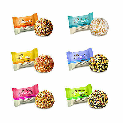 BOUNCE NATURAL ENERGY BALLS -HIGH PROTEIN WHEY BALL-GLUTEN FREE 6x42g FREE POST