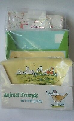 Vintage Envelopes Mead and more 46 total Animals Floral and Striped