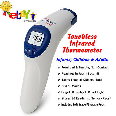 2019 ALL NEW Jumper IR Digital Forehead & Temple Thermometer for Babies & Adults