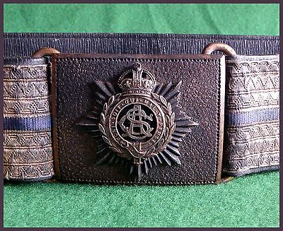 Post 1902 Army Service Corps ASC Officers Belt Buckle Badge Sword Belt Sling