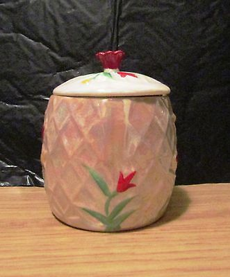 Wade Pottery Sugar Jam Barrel Pot with Lid. Hand Painted