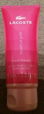 Brand new Lacoste touch of pink body lotion