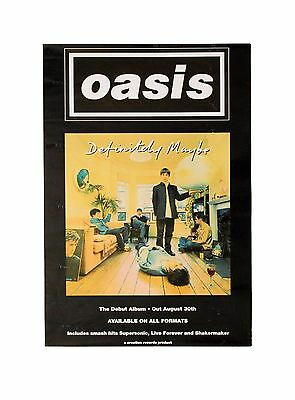 OASIS - Definitely Maybe - Original Vintage Poster dating to 1994