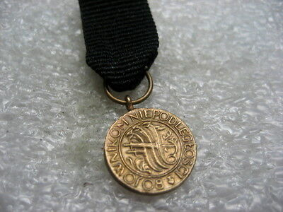 Poland Miniature Medal Independence Medal pre ww2