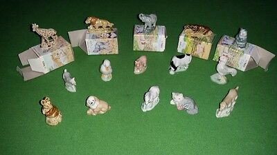 Wade Whimsies - full set of 15 listed and individually boxed animals from 1980s